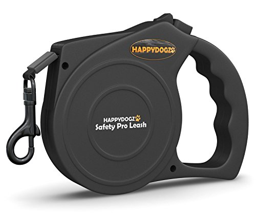 UPC 820103936996, HappyDogz Safety-Pro Retractable Dog Leash - 45% Off - 10 Year Money Back Guarantee - Modern Ergonomic Design - 16 Foot Retractable Leash Has Smooth Jam Free Retraction - One of the Best LARGE Dog Leads Available - Quality Long Retractable Dog Leash