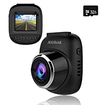 Dash Cam, JEEMAK 1080P IPS Touch Screen 170° Wide Angle Truck Rearview Dash Camera Vehicle Recorder,Car DVR Parking Monitor WDR Loop Recording
