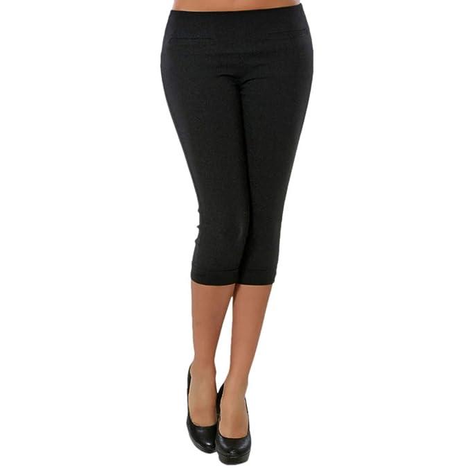 cinnamou Pantalones Mujer, Casual Pantalones Cortos Color SóLido ...
