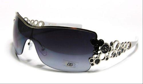 DG Eyewear Women's Bubble Aviator Sunglasses - Assorted Colors - Bubble Sunglasses White