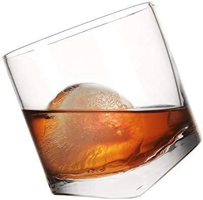 Home+ Vasos de Whisky Escocia Roca del Whisky Glass Bar Night Club del Vino Cóctel Copa Whisky Vasos 10 Oz Vaso de coñac Verre (Capacity : 300ml, Color : Clear)