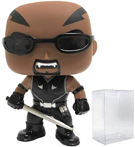 Figura de vinilo de Marvel Blade the Vampire Hunter (PX Previews Exclusive) Funko Pop (incluye funda protectora de caja emergente)