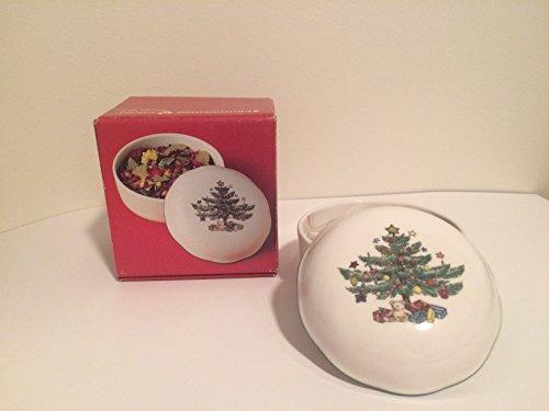 Nikko Christmastime Porcelain Potpourri Box Candy Dish
