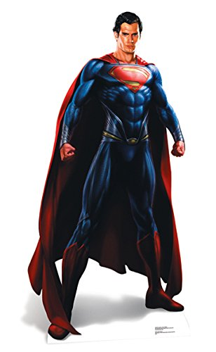 Star Cutouts Superman Man of Steel Lifesize Cardboard Cut Out, Multi-Colour