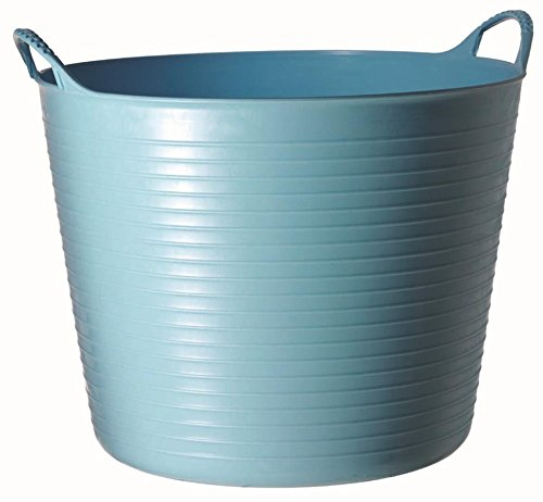 Tubtrugs 26L Medium Flexible 2-Handled Recycled Tub, Sky Blue
