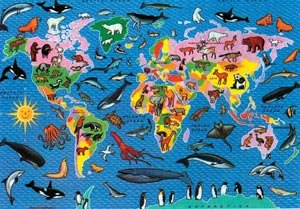Animal World Map Jigsaw Puzzle by James Hamilton Grovely Amazon