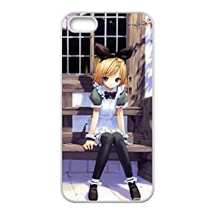 girl on a bench iPhone 4 4s Cell Phone Case White xlb2-299802
