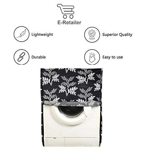 E-Retailer® Polyester Front Load Washing Machine Cover Suitable for 5KG to 8 KG (Black) 41NoAabLXiL India 2021