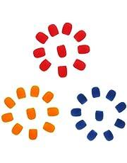 aternee Lapel Headset Microphone Windshield Foam Cover, Pack of 30, (Orange +