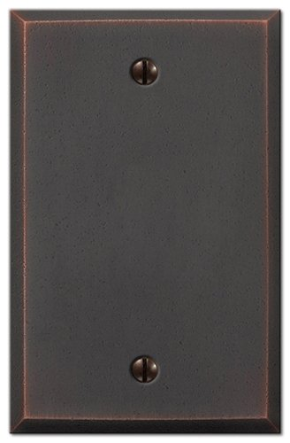 Amerelle 68BDB Manhattan Blank Wall Plate, Aged (Bronze Cover Plate)