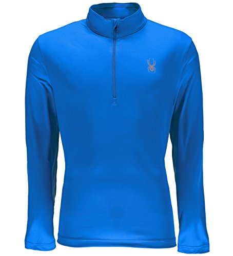 Spyder Men's Limitless 1/4 Zip Dry Web T-Neck, French Blue, X-Large