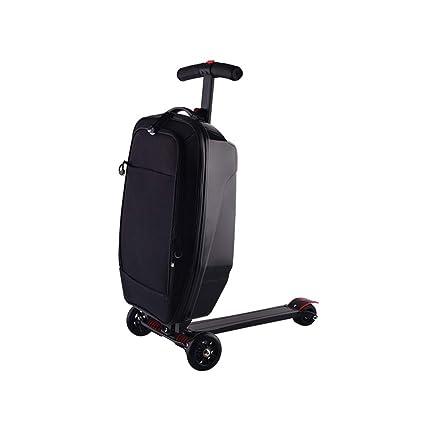 ZHAORLL Multifunción de Aluminio Trolley Skateboard Equipaje Trolley Plegable Bolsa de Equipaje 20 Pulgadas Hombres y