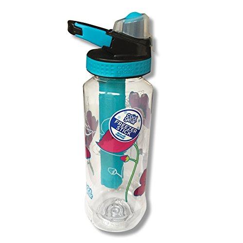 Cool Gear Tritan Freezer Stick Water Bottle (Poppies) by Cool Gear