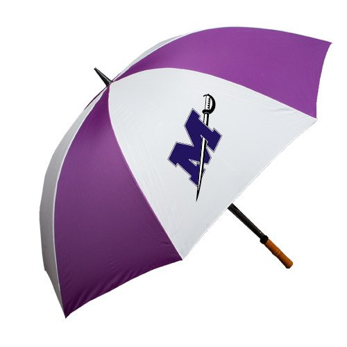 Millsaps 64 Inch Purple/White Umbrella 'Official Logo' by CollegeFanGear