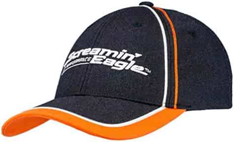 1dc5113e Harley-Davidson Mens Screamin' Eagle Champion Adjustable Baseball Cap  HARLMH0327 Black