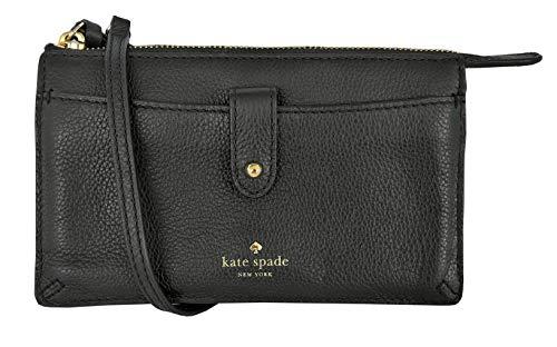 New Authentic Kate Spade Alegra Larchmont Avenue Crossbody Purse Black Leather