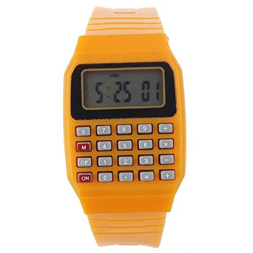 SMTSMT Children's Multi-Purpose Time Wrist Calculator Watch- Orange