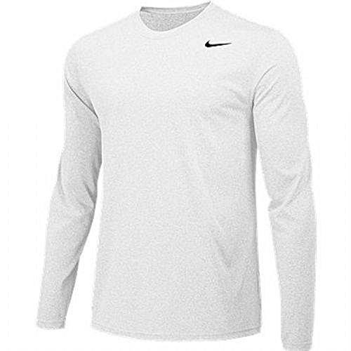 - Nike Boys Legend Long Sleeve Athletic T-Shirt (White, Youth X-Large)