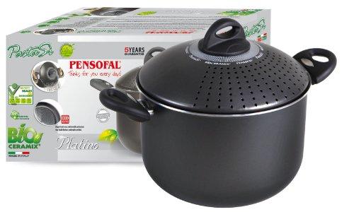 Pensofal 07PEN8632 Platino Bio-Ceramix Non-Stick Grand Familia PastaSi Pasta Cooker with Lid, 7-Quart by Pensofal (Image #2)