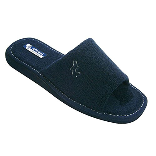 Ouvrez pantoufles orteil serviette homme Andinas en bleu marine