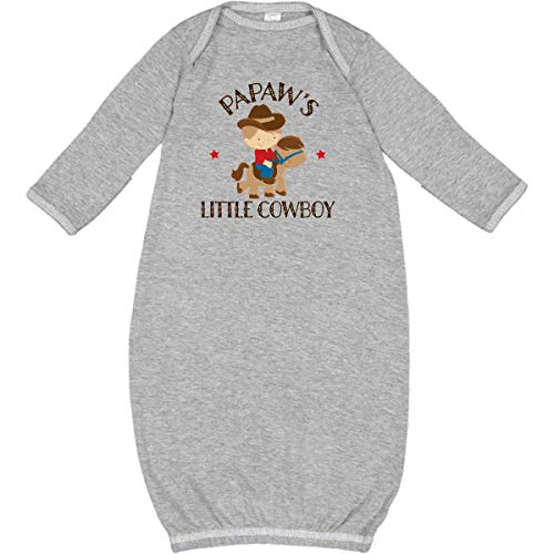 inktastic - Papaw Grandpa's Little Cowboy Newborn Layette Heather 229a9