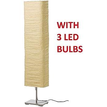 Ikea Regolit Floor Lamp Bow White Black E26 Bulb Amazon Com
