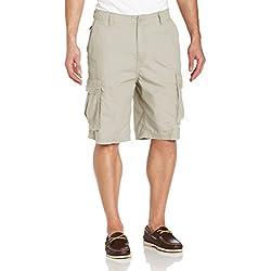 Nautica Men's Mini Ripstop Twill Cargo Short Shorts, -Nautica Stone, 36W