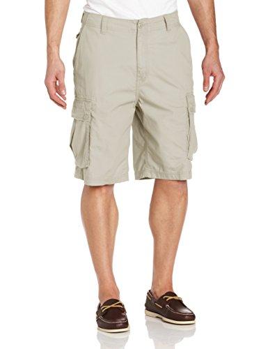 23 Inch Shorts (Nautica Men's Mini Ripstop Twill Cargo Short Shorts, -Nautica Stone, 36W)