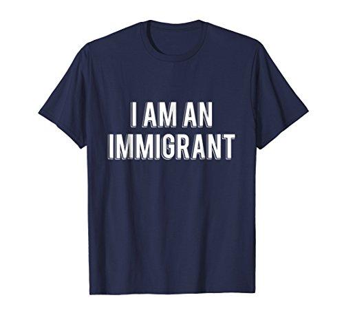 Mens I Am An Immigrant T-Shirt XL Navy