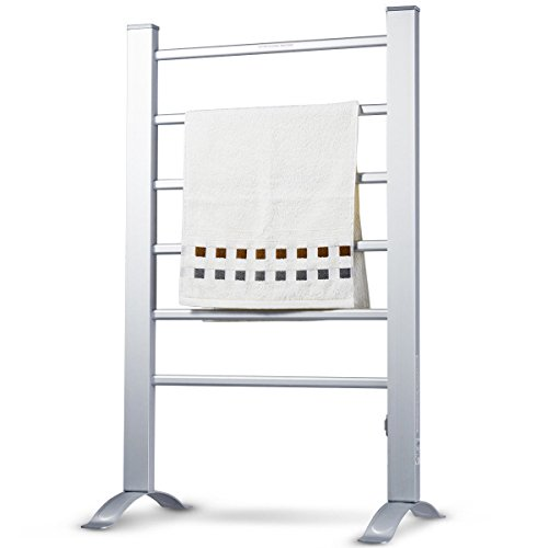 - Allblessings 2-in-1 Freestanding Wall Mounted Electric Towel Rail Rack Bathroom Warmer Heated For Comfortable