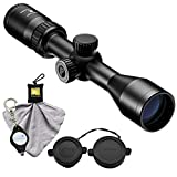 7. Nikon Prostaff P3 Muzzleloader Scope 3-9x400 BDC 300 Riflescope (16603) Bundle with a Cleaning Cloth and Lumintrail Keychain Light