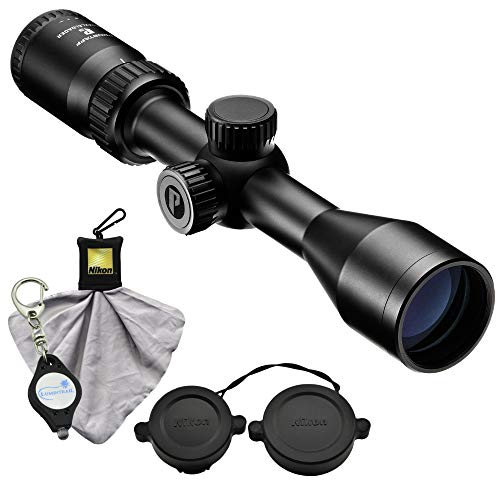 Nikon Prostaff P3 Muzzleloader Scope 3-9x400 BDC 300 Riflescope (16603) Bundle with a Cleaning Cloth and Lumintrail Keychain - Hunting Sabots