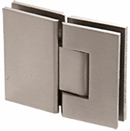 CRL Geneva 580 Series Brushed Nickel 180186; Glass-To-Glass Hinge with 5186; Offset