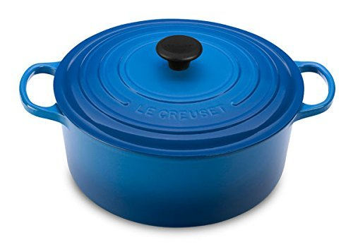 Le Creuset Signature Enameled Cast-Iron 9-Quart Round French (Dutch) Oven, Marseille