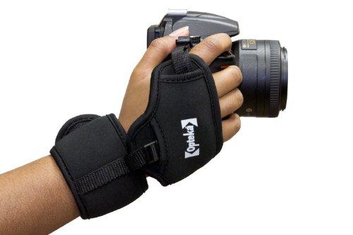 Opteka GS-3 Neoprene Padded Dual Grip/Wrist Strap for Canon EOS, Nikon, Sony, Olympus & Pentax DSLR Cameras