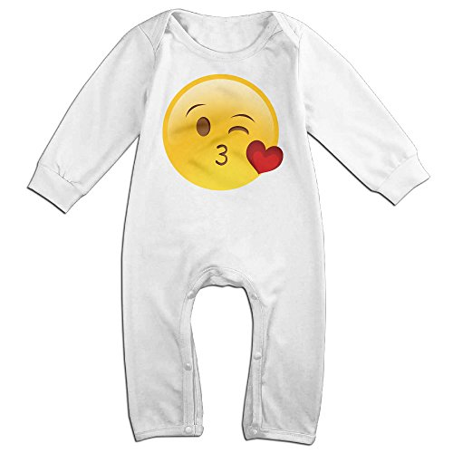 Diy Apple White Costume (Dara Heart Kiss Newborn Babys Long Sleeve Jumpsuit Outfits White 12 Months)