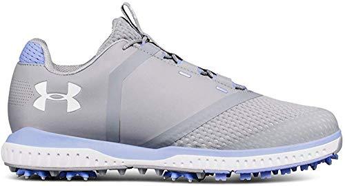 Under Armour Women's Fade RST Golf Shoe, Steel (101)/Talc Blue, 9.5
