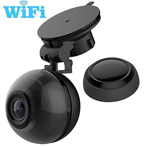 BLACKQ WiFi HD 1080P Dash Cam,Mini Car Recorder,140° Wide Angle,360° Rotate Bracket,Night Vision,Loop Recording,G-Sensor,Snapshot Button,Android and IOS APP. Rear View Mirror Holder for free