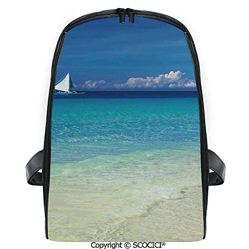 - SCOCICI 3D Digital Printed Backpack Exotic Tropic Beach in Philippines Island Horizon Summer Paradise Concept Cute Outdoor Daypack