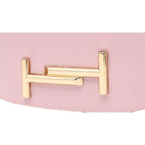 Grigio a moda tracolla in catena Dimensione donna con metallo a rossa Borsa tracolla in pelle Colore Viola xHaFWwAcq4
