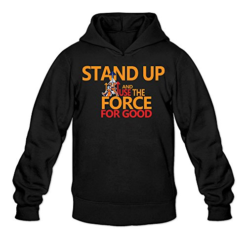 Caili Men's Stand Up To Cancer Hooded Sweatshirts XXL Black