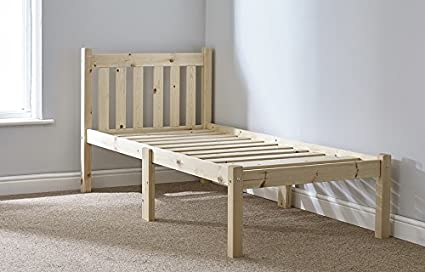 info for 869ef 2c38c Small Single 2ft 6 pine bed frame Heavy Duty - Complete with extra wide  solid base slats - Chunky 60mm Corner Posts