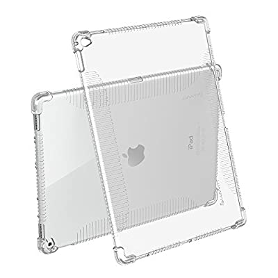 iPad Pro Case, LUVVITT® CLEAR GRIP Flexible Soft Transparent TPU Rubber Back Cover for iPad Pro 12.9 (2015) Air Gap Shockproof Technology - Clear by Luvvitt