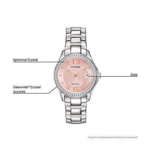 Citizen Women's Eco-Drive Silhouette Crystal Watch with Date