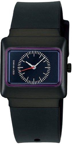 Issey Miyake Vakio Plum Dial Black Polyurethane Watch SILAH016