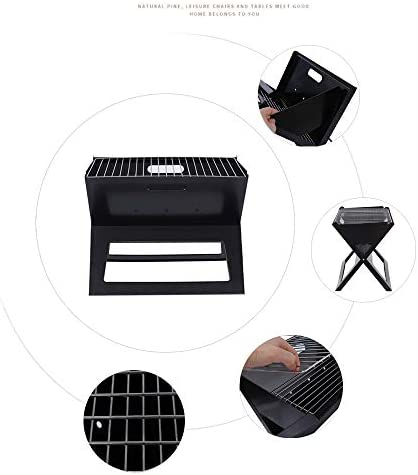 Barbecue Portable Épaissi En Forme De X Pliant Barbecue En Plein Air Grill Grand Barbecue Rack Camping Pique-Nique En Plein Air 3-5 Personnes Outils De Cuisine