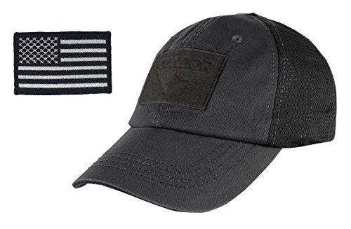 dor Outdoor Cap & USA Flag Patch Stitching & Excellent Fit for Most Head Sizes (Black - Mesh) ()