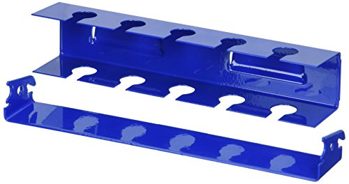 Wall Control ASM-SL-008 BU Pegboard Slotted Tool Holder Bracket Slotted Metal Accessory for Wall Control Pegboard Only, (Blue Wall Bracket)