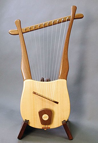 Old World Lyre - 10 String Davidic Harp - King David Harp Musicmakers lyrefin