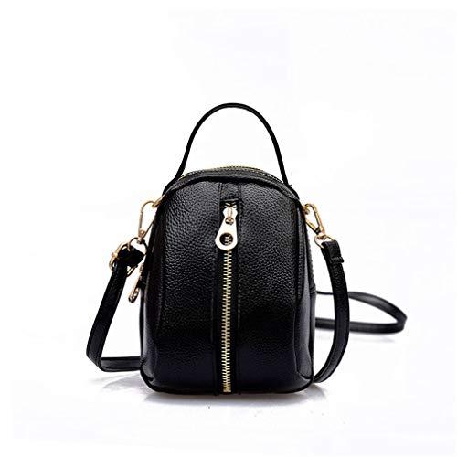 Handbag Shoulder Leather cm Bag Women PU Red Gray W13H18D11 vEIq4vPx